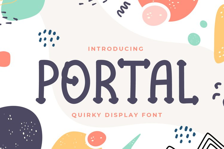 Portal - Quirky Display Font example image 1