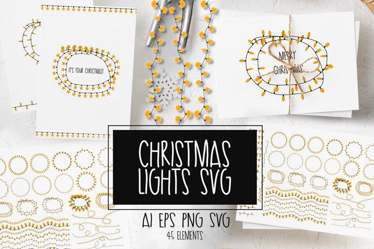 Christmas lights svg example image 1