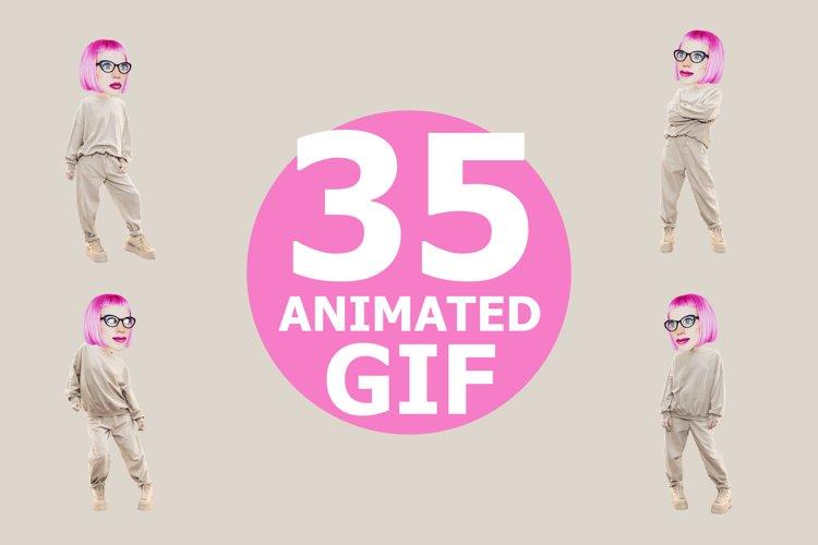 Animated gif funny character Girl example image 1