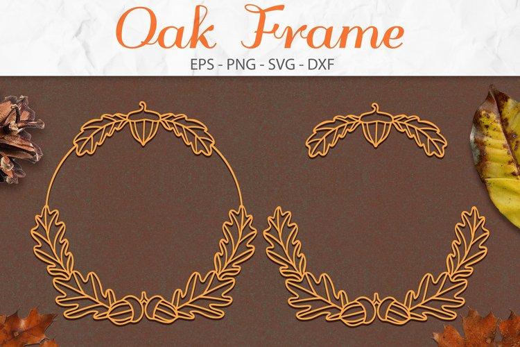 Oak Leaf, Fall SVG, Leaves SVG, Autumn Wreath SVG example image 1