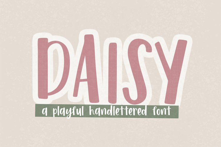 DAISY a hand lettered font - crafter font - fonts for SVGs