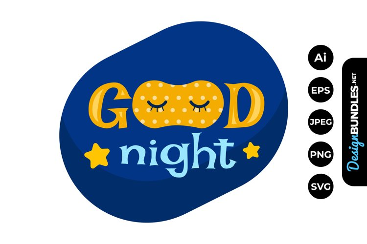 Good Night Clipart example image 1