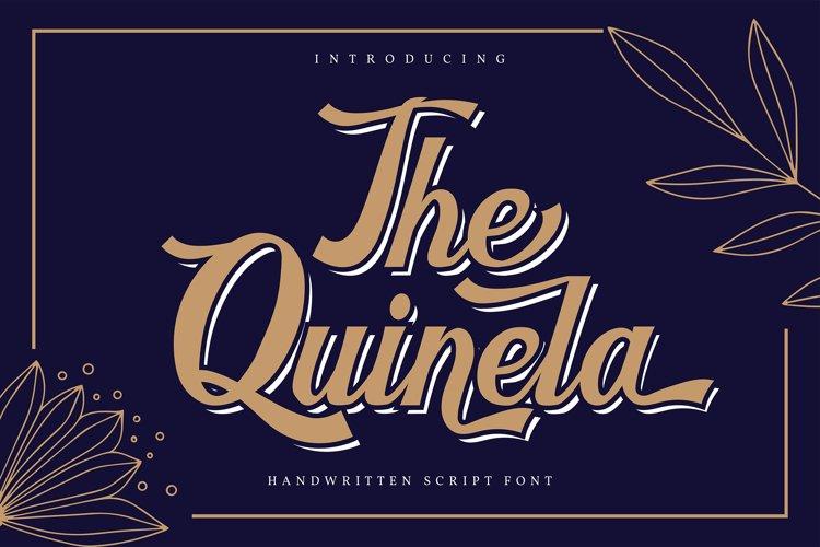 The Quinela | Handwritten Script Font example image 1