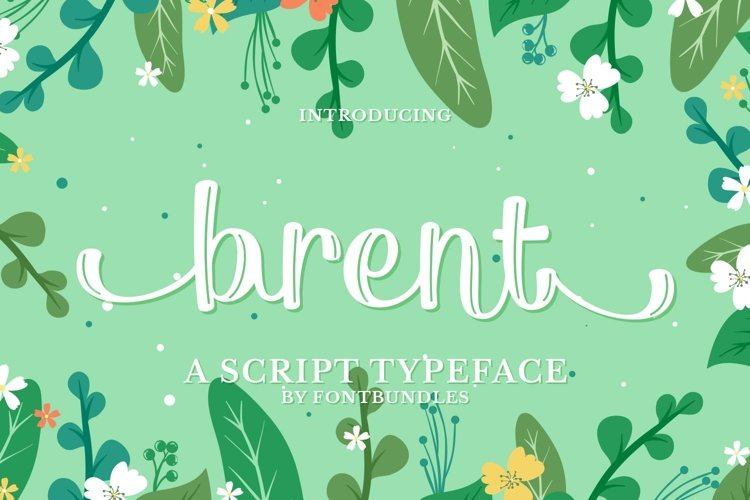 Web Font Brent example image 1