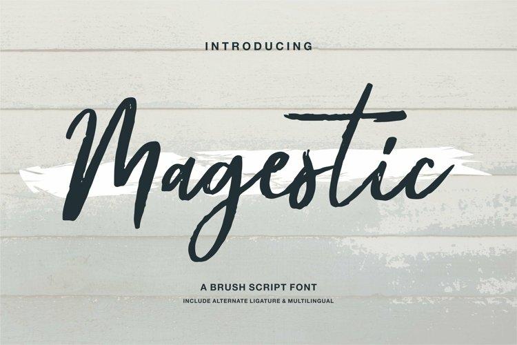 Web Font Magestic - A Brush Script Font example image 1