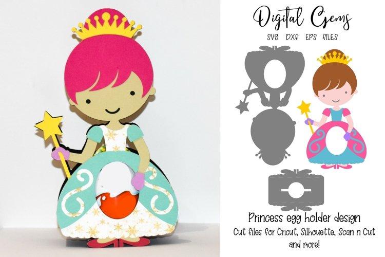Princess Easter egg holder design SVG / DXF / EPS files. example image 1