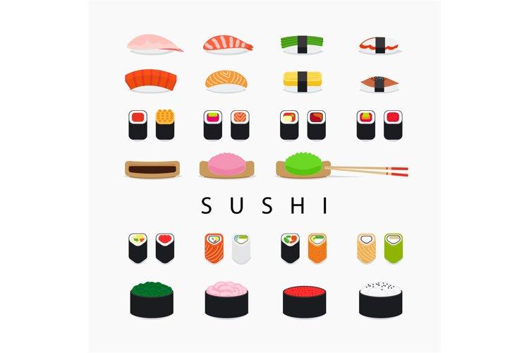 Japanese sushi icons example image 1