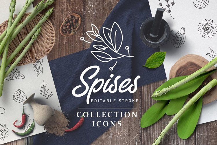 Spices and herbs. Logo and Icons example image 1