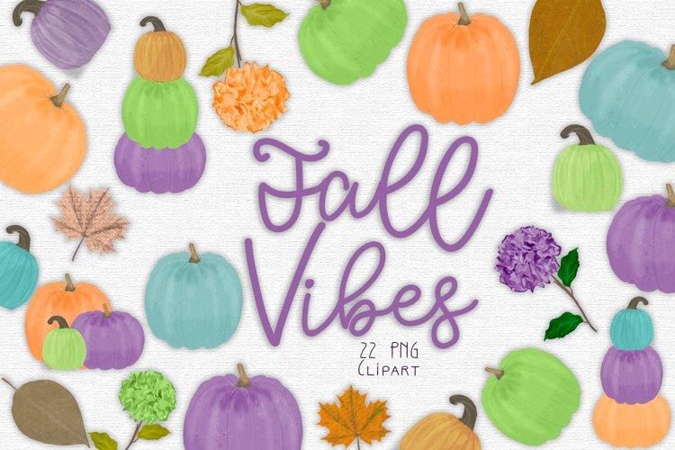 Fall Pumpkin Clipart Set example image 1