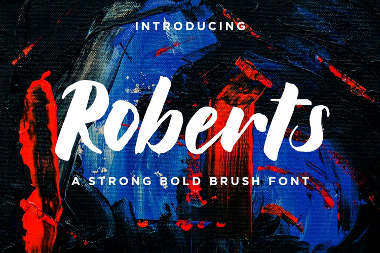 Roberts // Strong Bold Brush Script example image 1