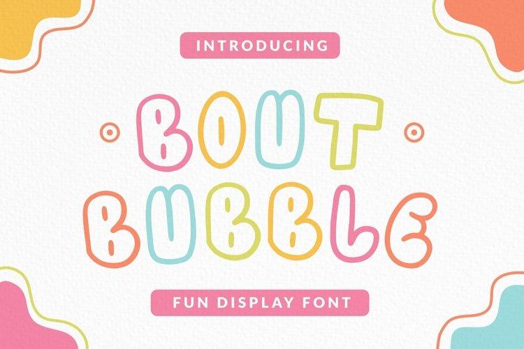 Web Font Boutbubble Font example image 1