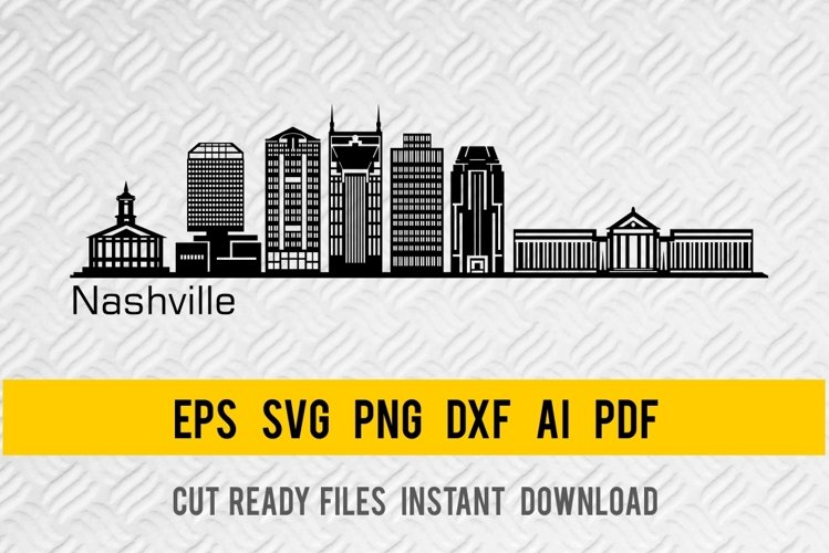 Nashville City Skyline SVG, State of Tennessee, Cut File example image 1