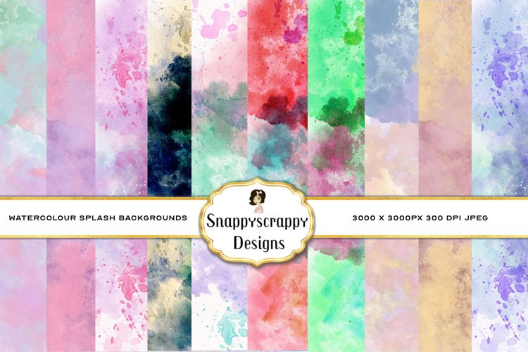 Watercolour Splash Background Papers