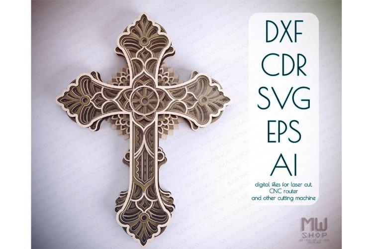 Cr17 - Multilayer Cross, Laser cut Cross, Cricut Cross SVG