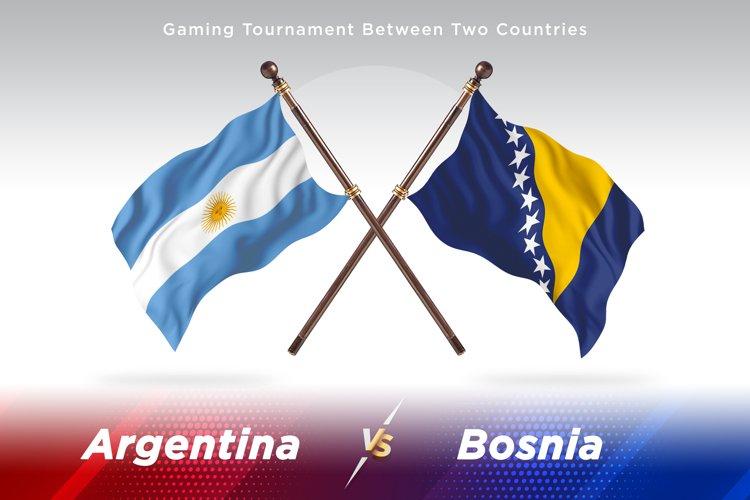 Argentina vs Bosnia and Herzegovina Two Flags example image 1