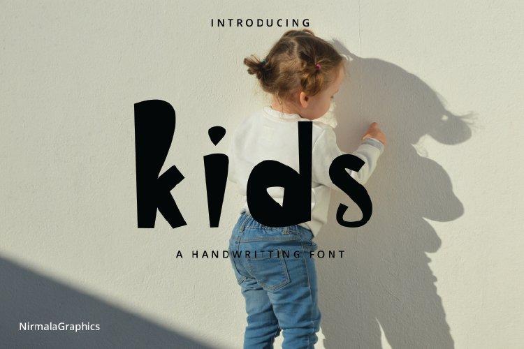 Kids - A Handwritten Font example image 1
