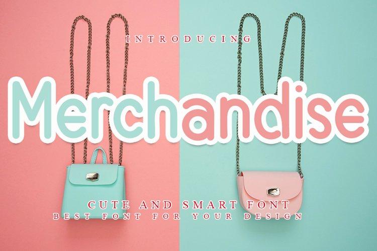 Merchandise - Cute & Smart Font example image 1