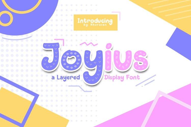 Web Font Joyius Display example image 1