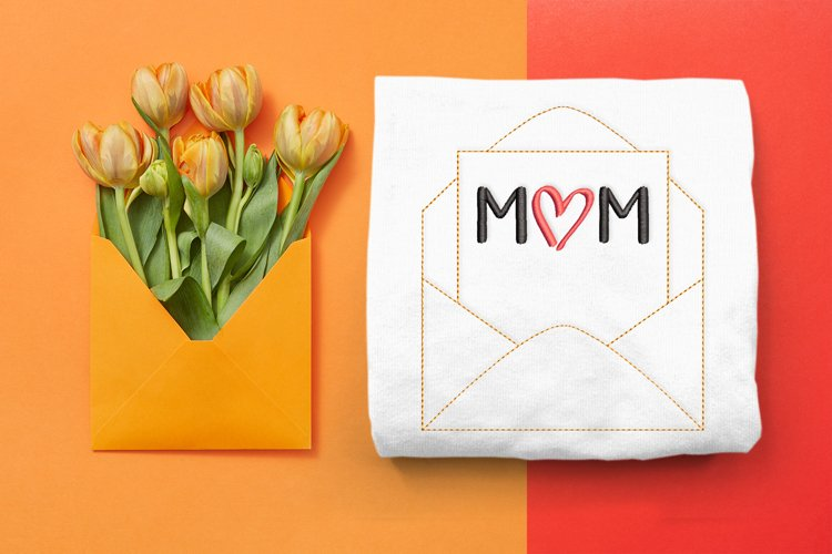 Linework Mothers Day Envelope Embroidery Design