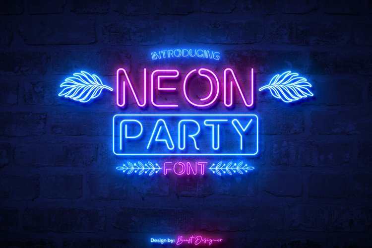 Neon Party Font example image 1