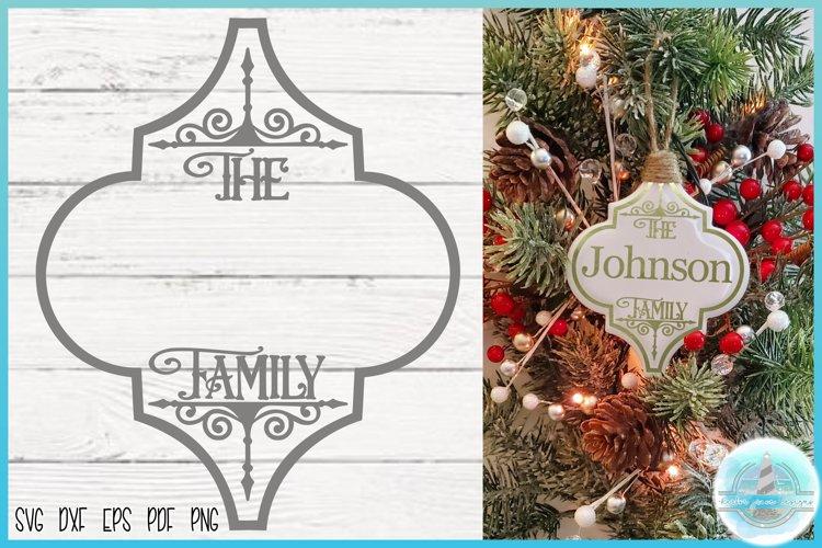 Arabesque Tile Design   Family Name Christmas Ornament SVG