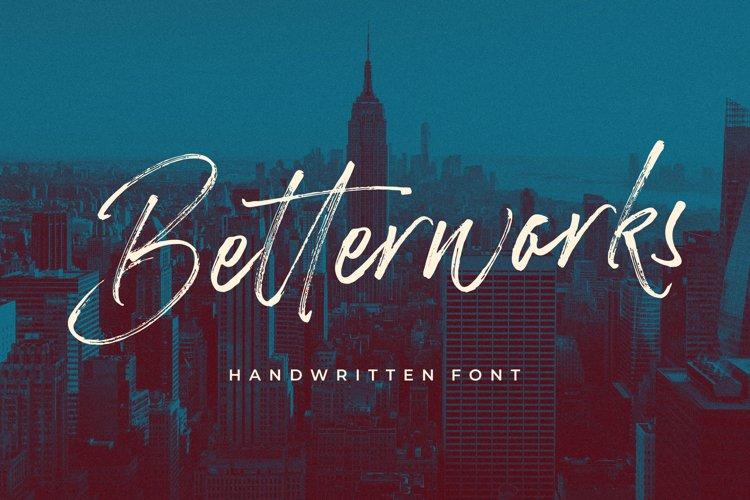 Betterworks Handwritten Font example image 1