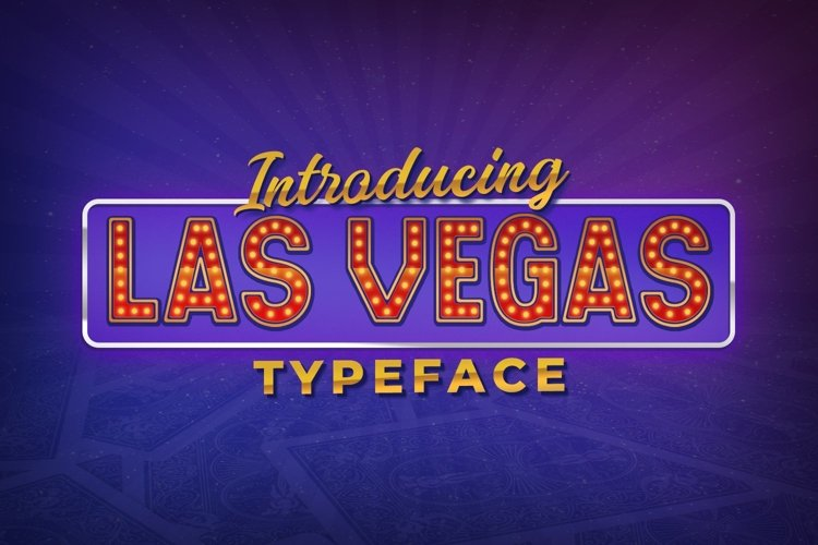 Web Font Las Vegas example image 1