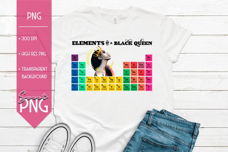 Elements of a Black Queen Periodic Table Design Trio example image 1