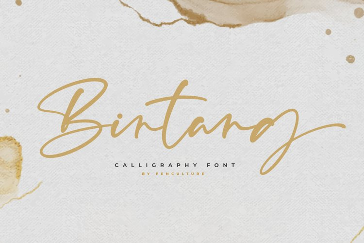 Bintang | Sweet Calligraphy Font example image 1
