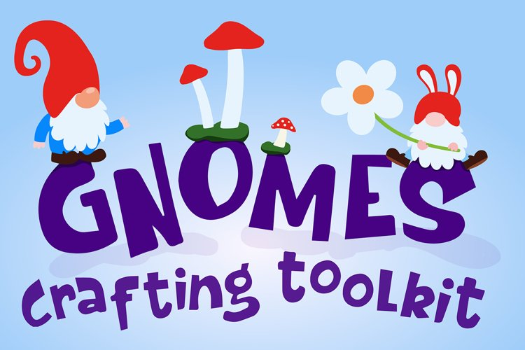 Gnomes SVG Crafting Toolkit with 60 Items example image 1