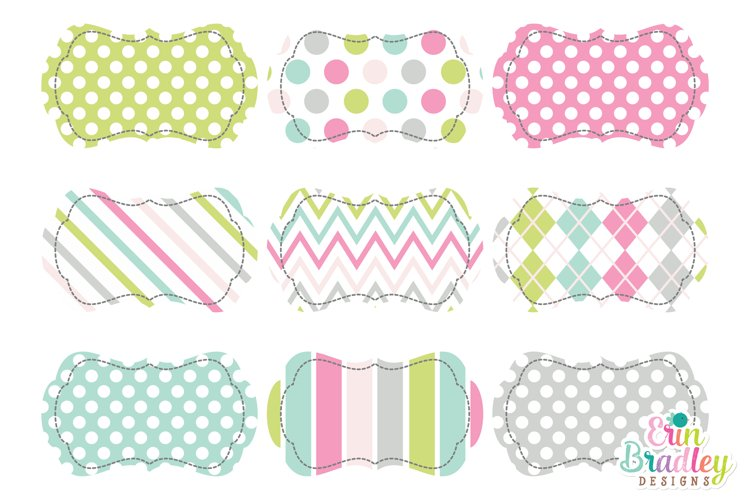 Soft Spring Clipart Frame Tags