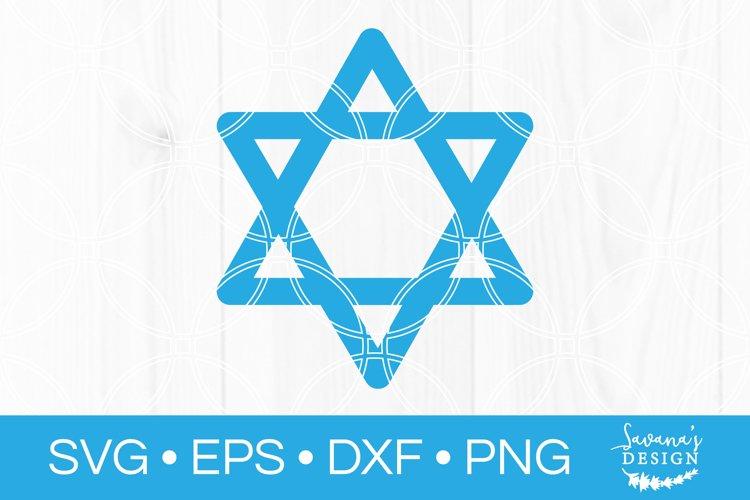 Star of David SVG Jewish SVG Hexagram SVG Six Pointed Star example image 1