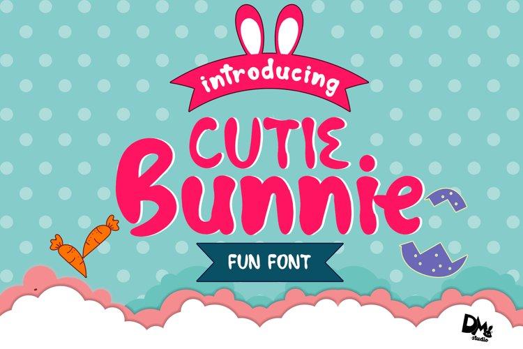 Cutie Bunnie - Fun Font example image 1