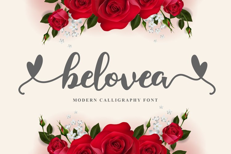 belovea - modern calligraphy example image 1