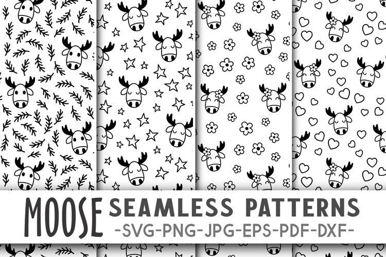 Moose pattern svg Moose svg Forest digital paper Animals svg
