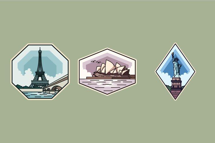 Landmark Badge illustrations example image 1