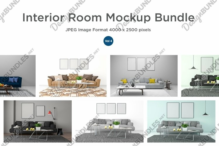 10 Images 3D Interior Room Mockup Bundle Vol 4 example image 1