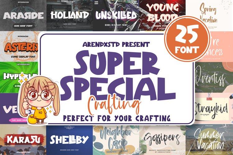 Super Special Crafting Font Bundle