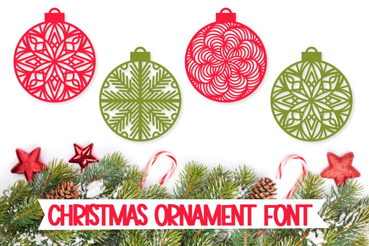 Christmas Ornament Dingbat Font