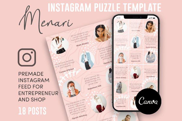 Menari, Pink Style Instagram Puzzle Feed, 18 Posts example image 1