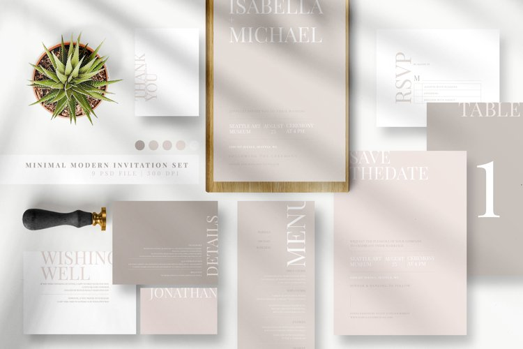 Minimal Modern Invitation Set example image 1