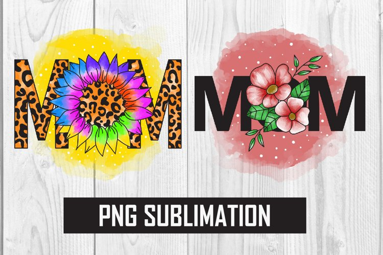 MOM sublimation, Mom Flower example image 1