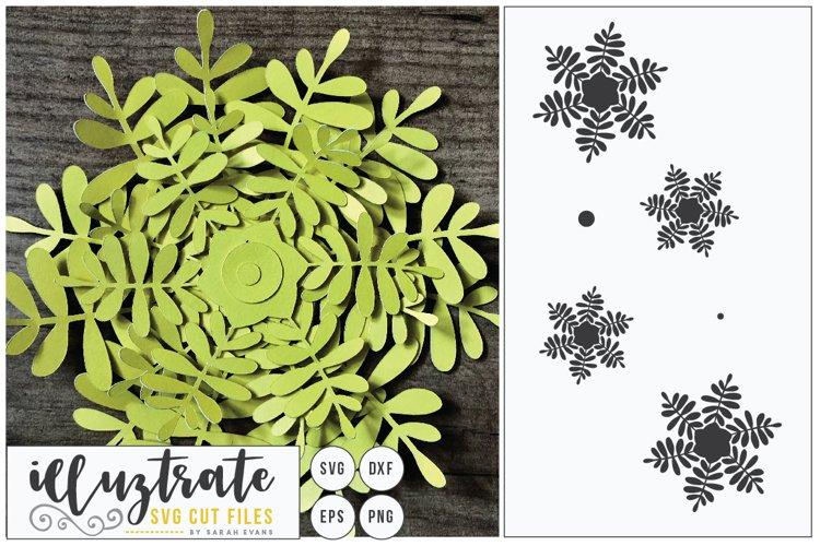 Paper Cut Flowers SVG Cut File - Paper Cutting Bundle DIY - Free Design of The Week Design9