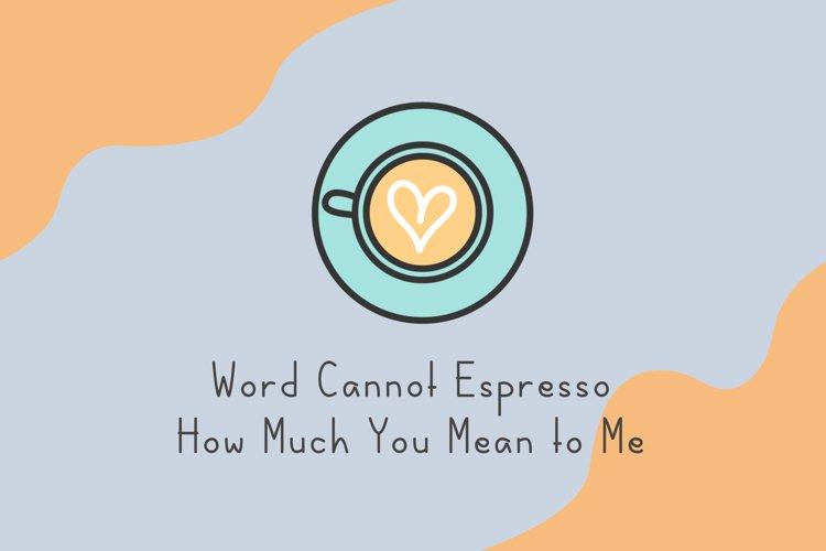 Coffee latte example 3