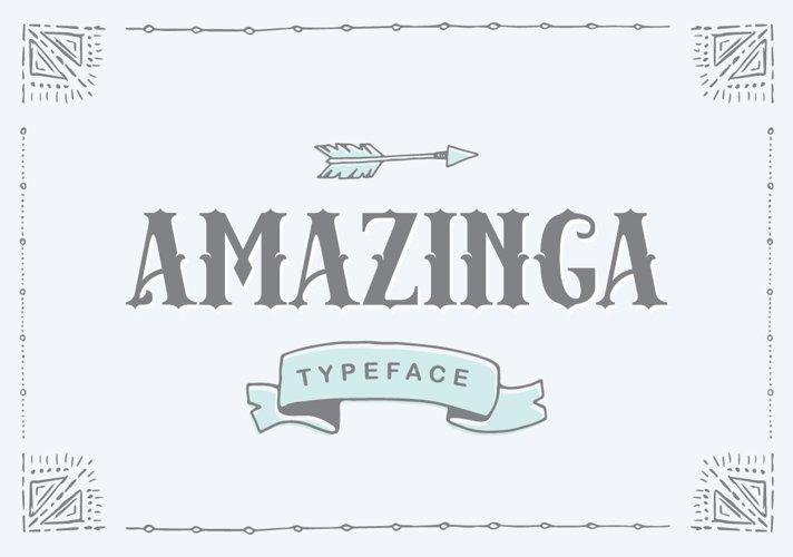 Amazinga Typeface - Free Font of The Week Font
