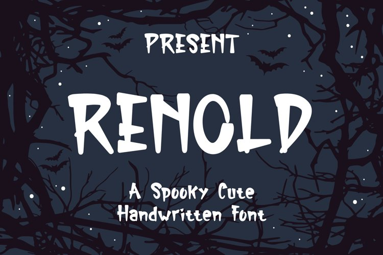 Renold Typeface - A Spooky Cute Handwritten Font example image 1