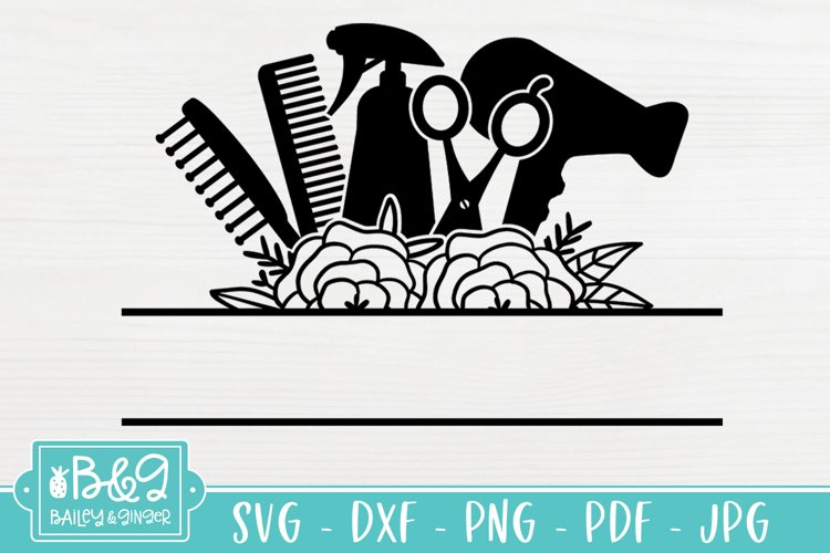 Download Hair Stylist Floral Svg File Split Frame Hairdresser 948741 Cut Files Design Bundles