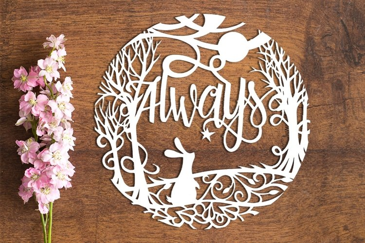Always - PDF Template for Paper Cutting by hand
