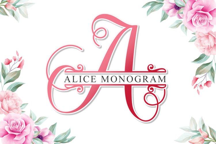 Alice monogram example image 1