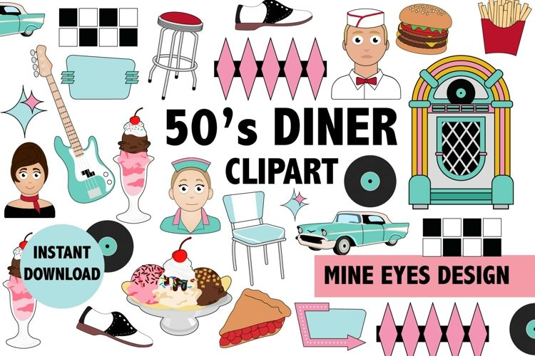 50s Diner Clipart